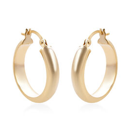 Close Out Deal - 9K Yellow Gold Hoop Earrings (with Clasp), Gold wt 1.79 Gms