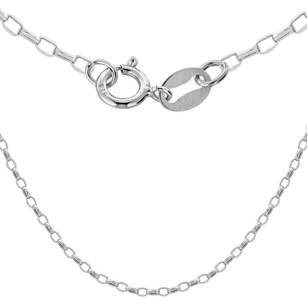 Sterling Silver Oval Belcher Chain (Size 24) with Spring Ring Clasp, Silver wt 5.30 Gms