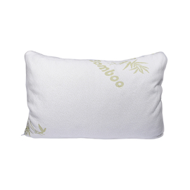 SERENITY Night Memory Foam Pillow with Double Jacquard Bamboo Cover - White
