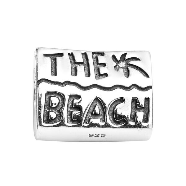 Charmes De Memoire Beach Charm in Platinum Plated Sterling Silver