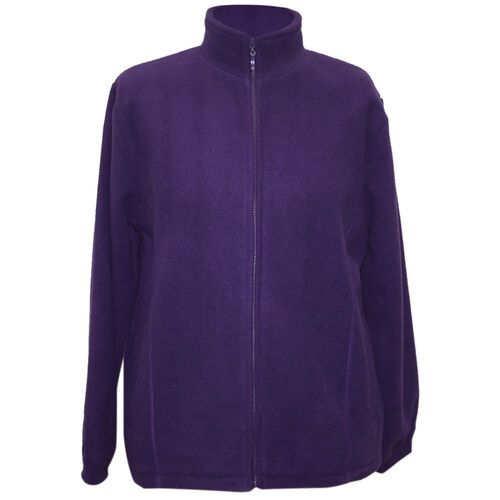 Pure and Natural Purple Colour Ladies Fully Lined Fleece Jackets (Size S)