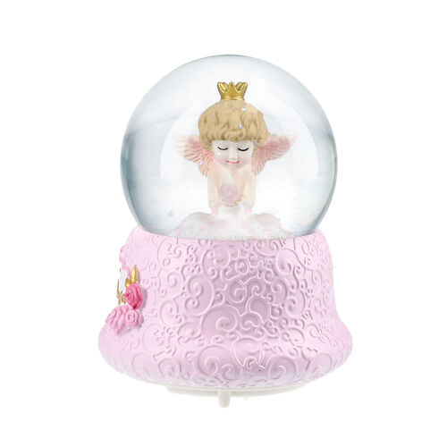 Angel Holding Dove Water Globe with Music and Glitter (Requires 3xAAA Batteries - Not Inc)
