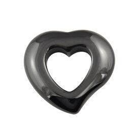 Cubic Zirconia Heart Pendant - Black