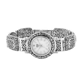Royal Bali Collection EON 1962 Swiss Movement Water Resistant Scroll Work Watch (Size 8) in Sterling