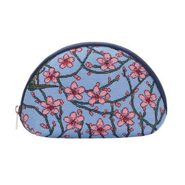 Signare - NEW Big Cosmetic Bag in Blossom and Swallow Design (24.5 x 15.5 x 8.8cms) - Blue