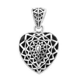 Royal Bali Collection - Sterling Silver Heart Pendant