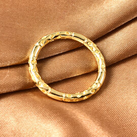 RACHEL GALLEY Yellow Gold Overlay Sterling Silver Lattice Band Ring