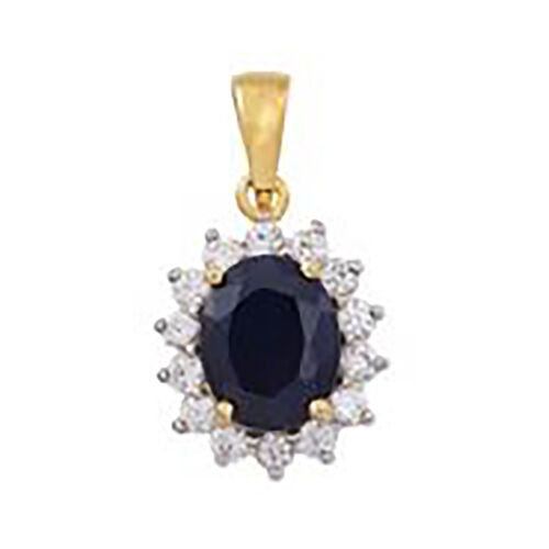 9K Yellow Gold Rhodolite Garnet and Natural Cambodian Zircon Pendant 7.16 Ct.