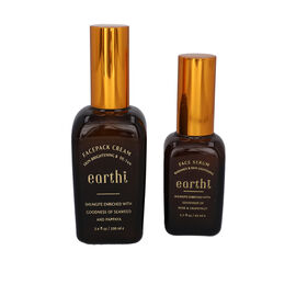 Shungite Enriched Earthi Seaweed and Papaya Face Pack Cream with complementary Vetiver Facial serum