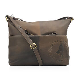 MCS Country Classics: 100% Genuine Leather Handbag - Dark Brown