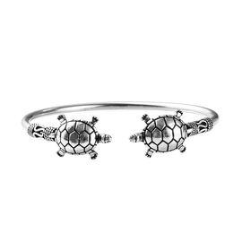 Turtle Cuff Bangle in Sterling Silver 17.20 Grams 7.5 Inch