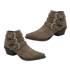 Ravel Taupe Black Colville Suede Ankle Boots