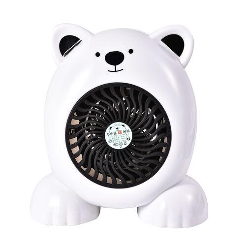 Cute Portable White Bear Heater Fan -  360W - 19cm High