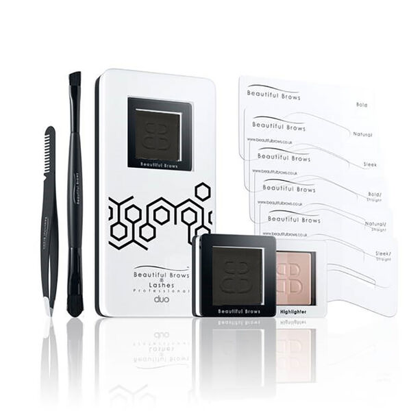 Beautiful Brows- Brow Kit with Free Eyebrown Trimmer - Black/Chocolate