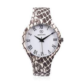 Designer Inspired - Japanese Movement Animal Print Stainless Steel Watch - Snake