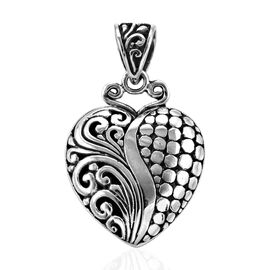 Royal Bali Collection Heart Pendant in Sterling Silver 7.64 Grams