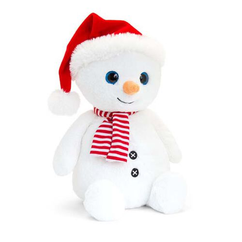 Keel Toys - Snowman with Red Hat and Scarf (Size 20 Cm)