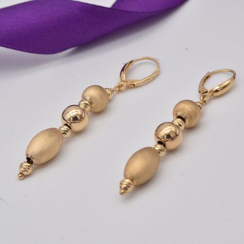 Italian Made - 9K Yellow Gold Dangle Earrings, Gold Wt. 3.75 Gms