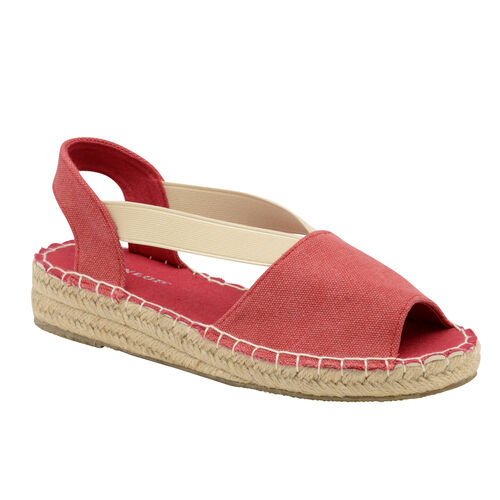 Dunlop Minna Espadrille Sandals (Size 5) - Red