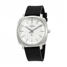 Calvin Klein Swiss Made Mens Analog Black Watch- White