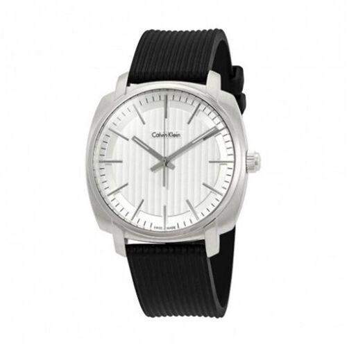 Calvin Klein Swiss Made Mens Analog Black Watch- White