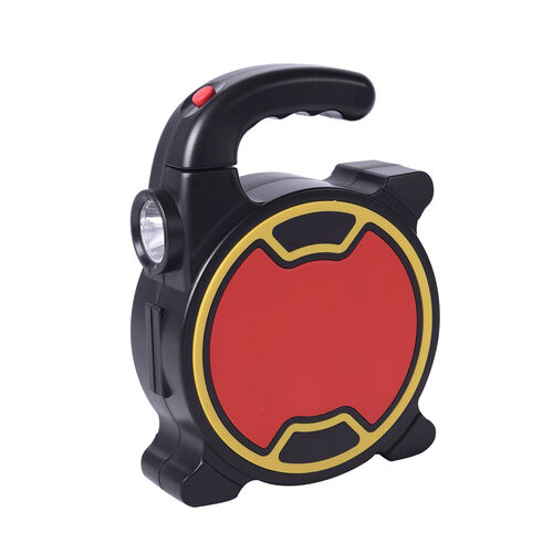 Portable Flashlight Tool Box (Inclds. 1pc Handle, 1pc Prolong Bar, 4pcs Precision Screwdrivers, 8pcs Sockets, and 10pcs Bits) - Yellow and Black