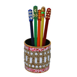 Set of 5 - Velvet Multi Pencil with Beaded Pot