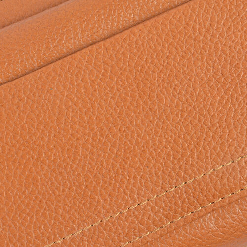 Super Soft 100% New Zealand Leather Tan Colour Clutch Wallet RFID Blocking (Size 19X2.5X10 Cm Large Phone Can Fit in )