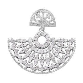 Designer Inspired- Diamond (Rnd) Pendant in Platinum Overlay Sterling Silver 0.500 Ct.