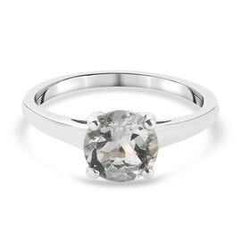 Prasiolite Ring in Platinum Overlay Sterling Silver 1.25 ct  1.250  Ct.