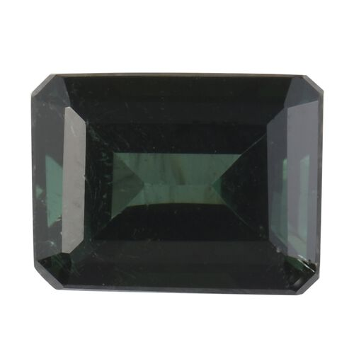 AA Green Tourmaline Octagon 8x6 Faceted 1.52 Cts