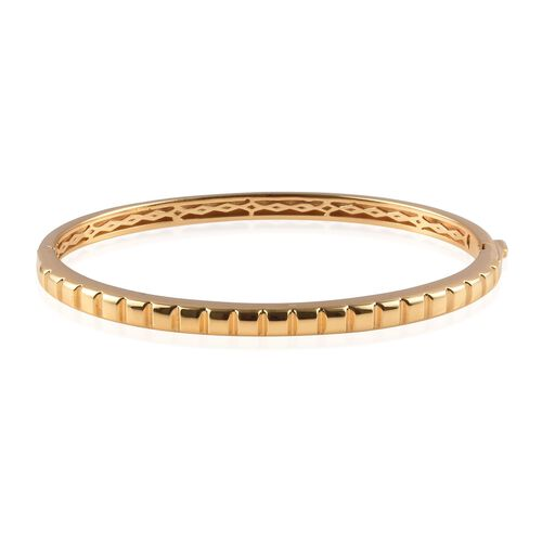 Stacker Bangle in 14K Gold Plated Sterling Silver 18.40 Grams 7.5 Inch
