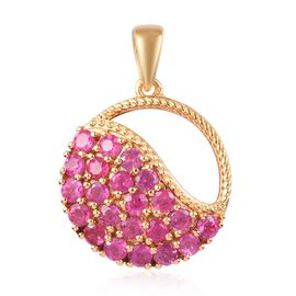 3.50 Ct African Ruby Pendant in Gold Plated Sterling Silver