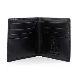 William Hunt - Saville Row 100% Genuine Leather Embossed Wallet - Black