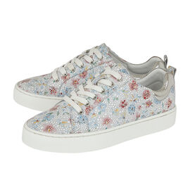 Lotus Stressless Leather Garda Lace-Up Trainers in Multi Floral