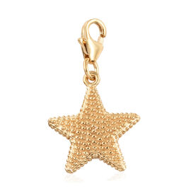 14K Gold Overlay Sterling Silver Star Fish Charm