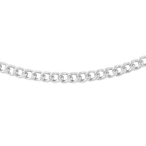 RHAPSODY 950 Platinum Diamond Cut Curb Chain (Size 20), Platinum wt 8.10 Gms