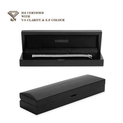 NY Close Out Deal  14K White Gold SGL Certified Diamond (I1-I2/GH) (Bgt) Bracelet (Size 7.5) 5.00 Ct, Gold wt 23.00 Gms