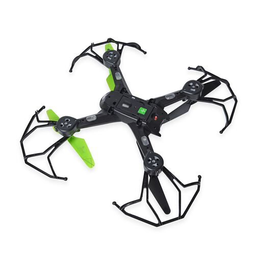 Green and Black Colour 4 Channel Quadcopter with Remote Control (Size 27x27x9 Cm)