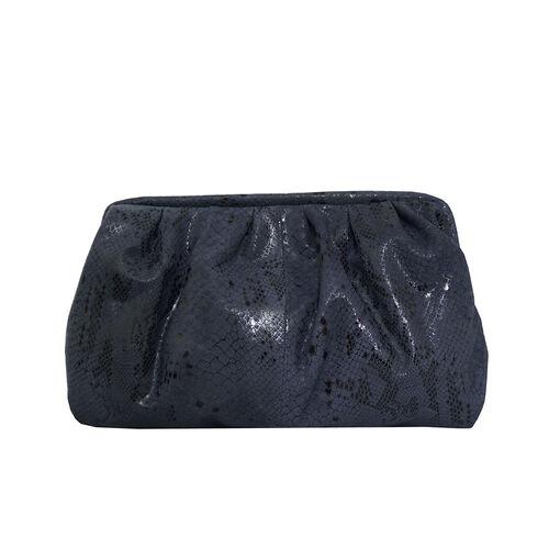 ASSOTS LONDON Genuine Leather Snake Print Oversized Clutch Bag with Adjustable Shoulder Strap (Size