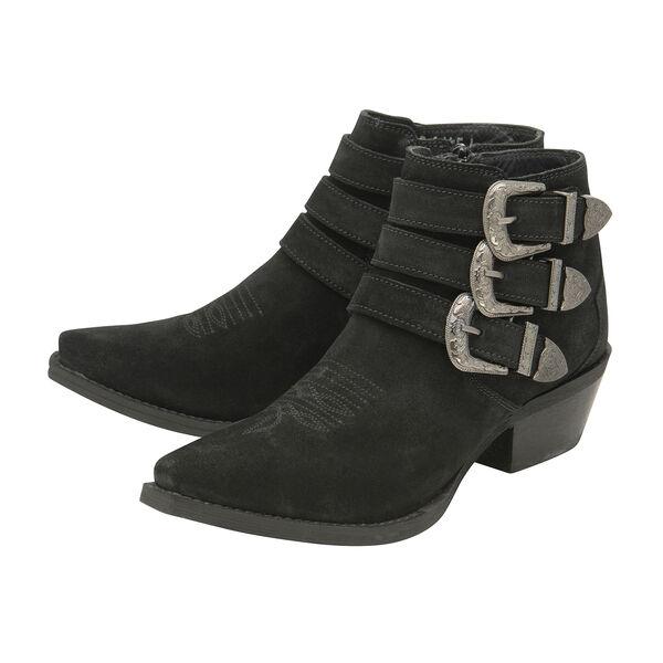Ravel Black Black Colville Suede Ankle Boots (Size 4)