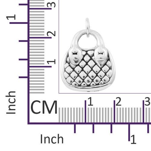 Sterling Silver Handbag Design Pendant, Silver wt. 3.85 Gms.