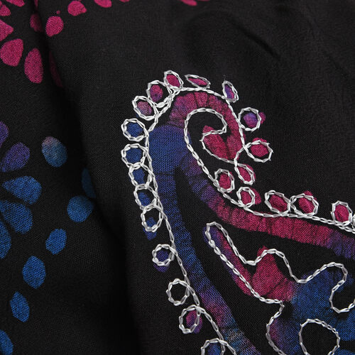 New For Season - Black, Blue and Multi Colour Flower and Paisley Pattern Apparel (Free Size)