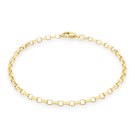 Hollow Belcher Bracelet Size 7.5 in 9K Yellow Gold, 1.10 Grams
