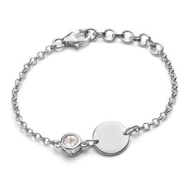 Diamond Bracelet (Size 6 with Extender) in Platinum Overlay Sterling Silver