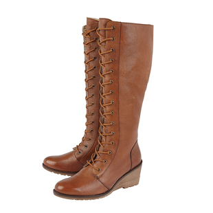 Lotus PEDRO Knee High Boots - Tan