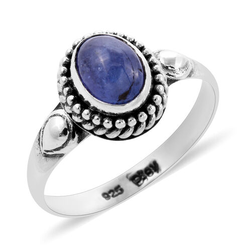 Royal Bali Collection 1.63 Ct Tanzanite Solitaire Ring in Sterling Silver