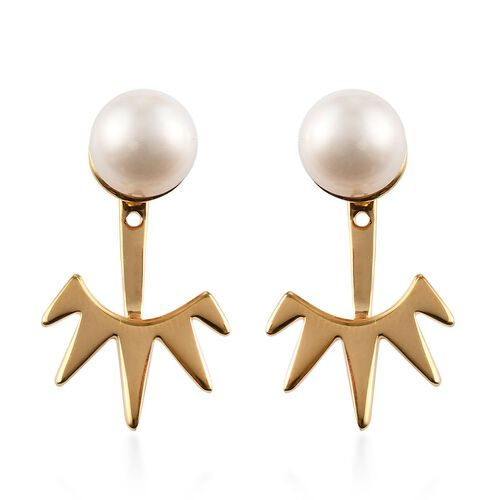 Sundays Child - Freshwater Pearl Detachable Earrings (with Push Back) in Vermeil Yellow Gold Sterlin
