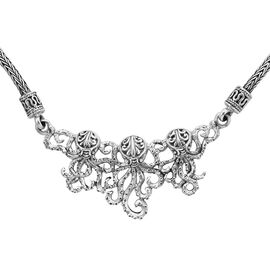 Royal Bali Octopus Necklace in Sterling Silver 23.80 Grams 20 Inch