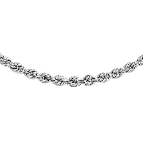 Vicenza Close Out Deal Rope Chain in 9K White Gold 18 Inch